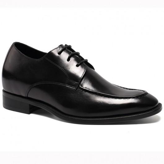 Chamaripa Verhoogde Schoenen op maat gemaakte schoenen heren veterschoenen heren Zwart 7 CM Langer