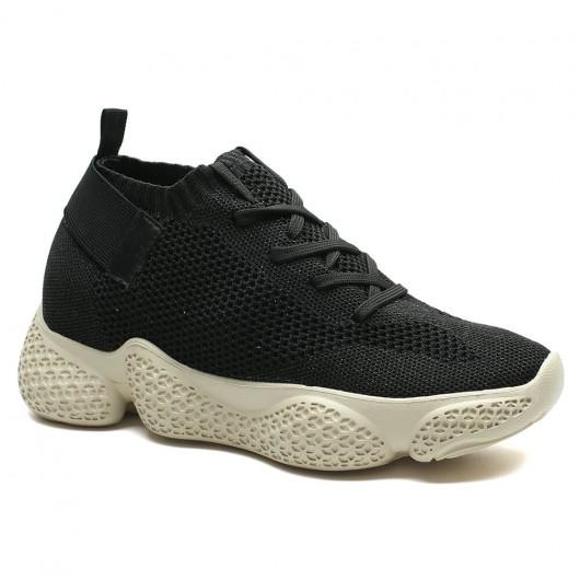 Chamaripa dames schoenen om langer te lijken sneakers met sleehak voor dames 7 CM