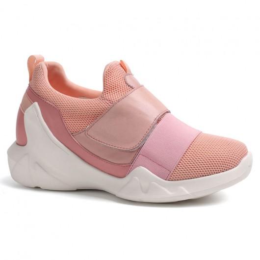Chamaripa Verhoogde Schoenen Dames Sneaker Verhoogde Roze 7 CM Langer