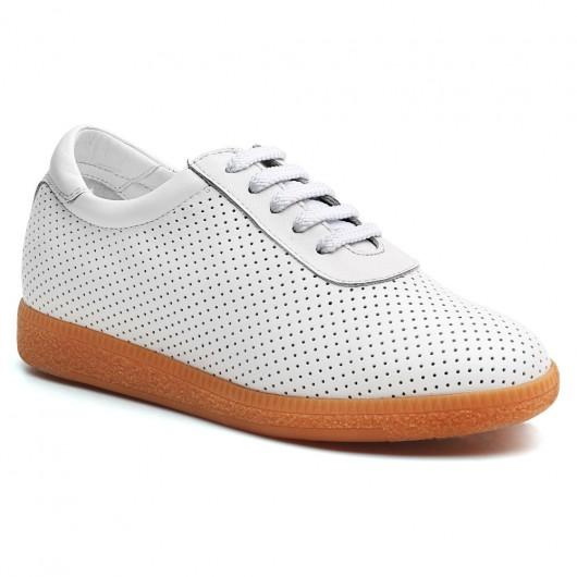 Chamaripa Verhogende Schoenen Dames sneakers sneakers met verhoogde binnenzool Wit 7 CM Langer