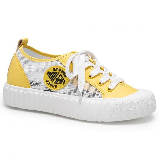 Chamaripa verhogende schoenen dames verhoogde schoenen gele sneakers voor dames 5 CM
