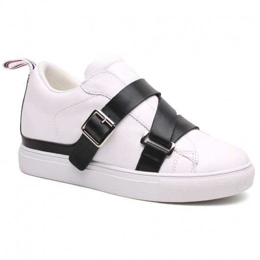 Chamaripa Verhogende Schoenen Dames Sneaker Verhoogde wit 7 CM Langer