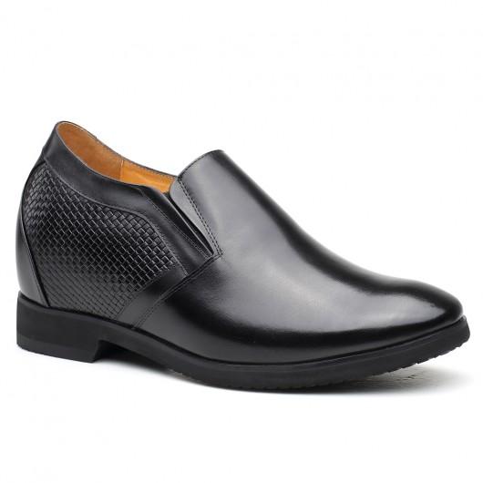 Chamaripa Heren Hoge Hak Schoenen Groter Instappers Hoogte Toenemende Schoenen voor Mannen 10.5CM