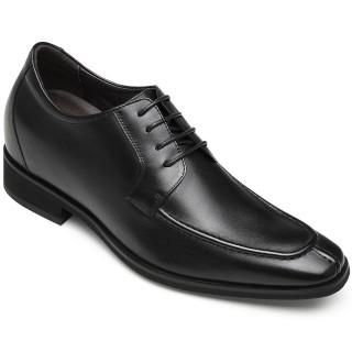 Verhogende Schoenen Zwart - Heren Schoenen Met Verborgen Hak - Veterschoenen 7 CM