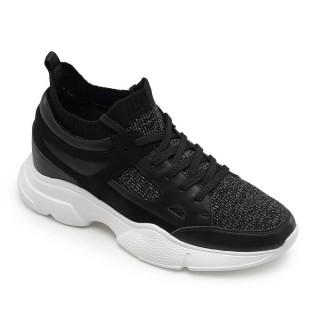 Verhogende Schoenen - Zwarte Sportschoenen - Heren Schoenen Met Hoge Hak 8 CM