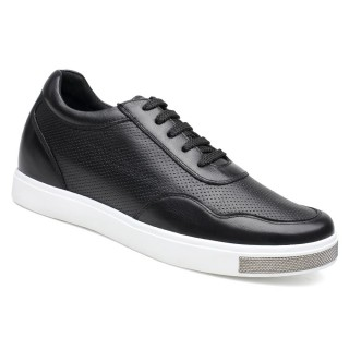 Casual Men Elevator Shoes Hidden Heel Lifts Shoes Height Increase Skate Shoes