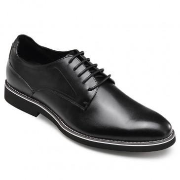 CHAMARIPA verhoogde schoenen voor mannen zwart lederen derby verhogende schoenen maken je langer 5 CM