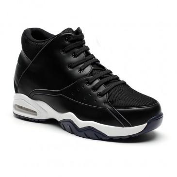 Chamaripa verhogende schoenen heren schoenen hoge zool sportschoen met verhoogde hak zwart basketbalschoenen 9.5 CM