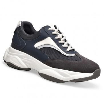 Chamaripa verhogende schoenen sneakers met verhoogde binnenzool sneakers met verborgen sleehak donker grijs 8.5CM