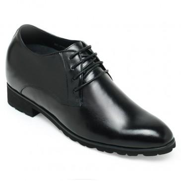 Chamaripa 10CM Langer Verhoogde Schoenen veterschoenen heren zwart schoenen met hakverhoging