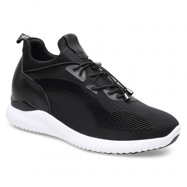 Chamaripa onzichtbaar verhoogde schoenen Zwart sneakers met verhoogde binnenzool 7CM