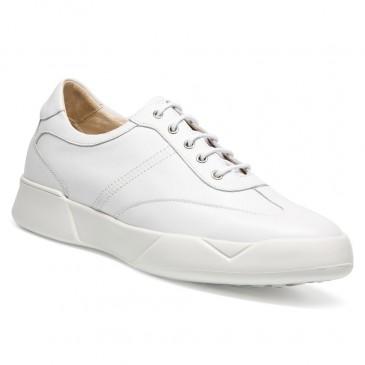 Chamaripa Verhogende Schoenen Wit Sneakers met Verhoogde Binnenzool 7CM Langer