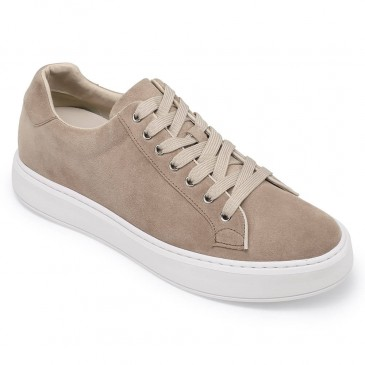 Chamaripa onzichtbaar verhoogde schoenen sneaker met sleehak Herenschoenen met hoge hak +6 CM