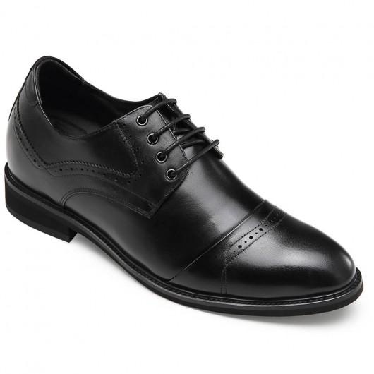 CHAMARIPA kjolelevatorsko til mænd sort højdeforøgende derbysko 7CM