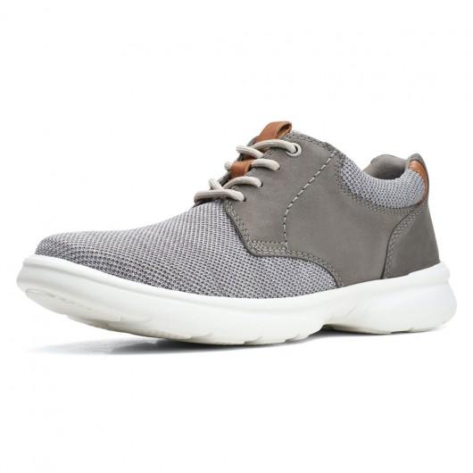 CHAMARIPA løbesko til mænd grå strik afslappede sko til korte mænd, der gør dig 7 CM højere