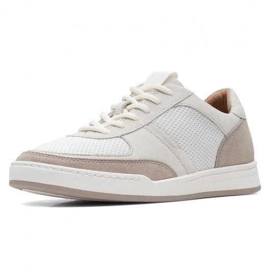 CHAMARIPA højde stigende sko mænd elevator sko beige ruskind sneaker sko til mænd 7 CM højere