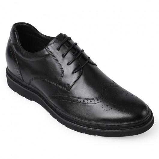 Chamaripa højde stigende sko sort herre kjole Elevator sko højhæl sko til mænd 7 cm / 2,76 tommer
