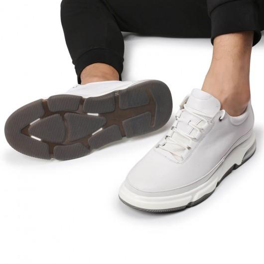 CHAMARIPA sneakers med elevatorer til mænd hvid læder tall man sneakers 7CM