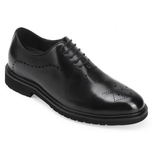 CHAMARIPA kjole elevator sko til mænd sort læder formelle sko, der tilføjer højde 7 CM højere