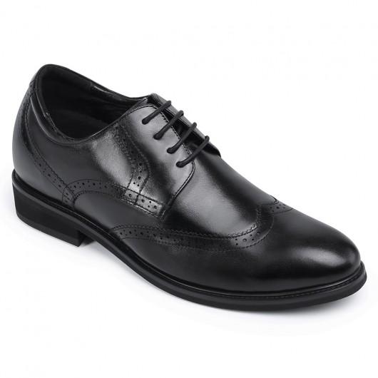 Chamaripa formel højde stigende sko høje mænd sko sort wingtip Elevator sko 7 cm / 2,76 tommer