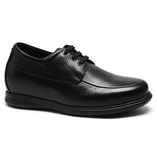 Chamaripa Men Elevator Shoes Black Casual Height Increasing Shoes to Get Taller 7CM /2.76 Inches