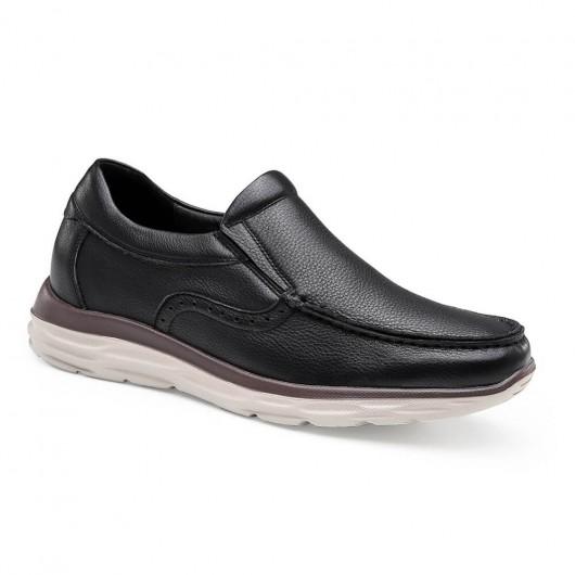 Chamaripa casual elevatorsko højde stigende glid på sko sort skjult hæl vandresko til mænd 6 CM / 2,36 tommer