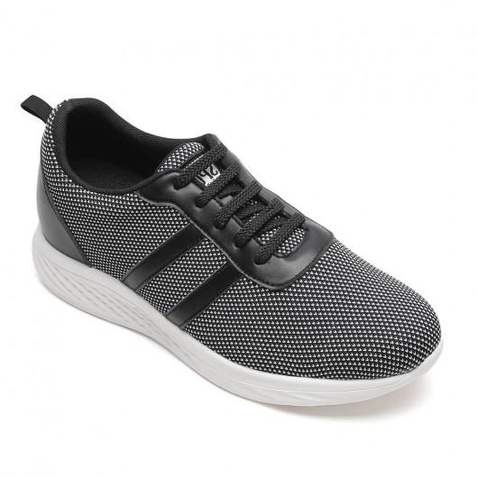 Chamaripa Elevator Sneakers Sko Sort Højde Stigende Sportssko Løftesneakers 6 CM / 2,36 Inches