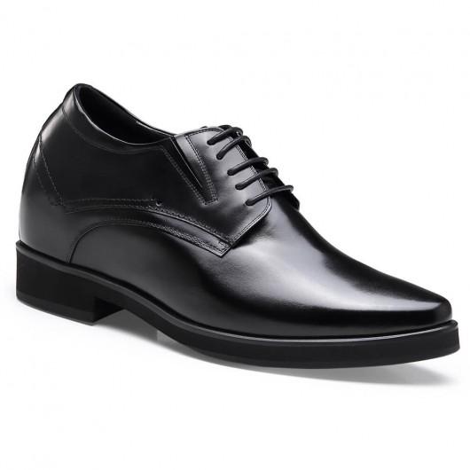 Chamaripa formel højde stigende sko til mænd sort høje mænd sko højhæl mænd kjole sko 10 CM / 3,94 tommer