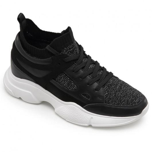 CHAMARIPA højde stigende sko til mænd skjulte hæltræner sorte sportssko 8 CM