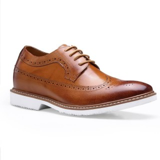 brown bullock height casual shoes for men
