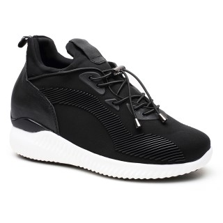 Height Increase Shoes Lift Shoes Elevator Sneaker Hidden High Heel Shoes for Women 7CM/2.76 Inch