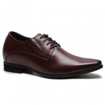 Chaussures habillées augmentent la hauteur des chaussures derby pour hommes 8cm