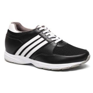 Height Insoles 8.5cm Black/White Elevator Sport Fashion Men Shoes