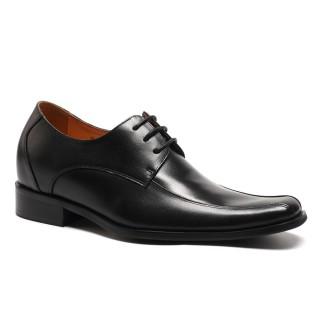 2017 zapatos de vestido de aumento de la altura de los hombres Negro boda zapatos para crecer 7 centimetros