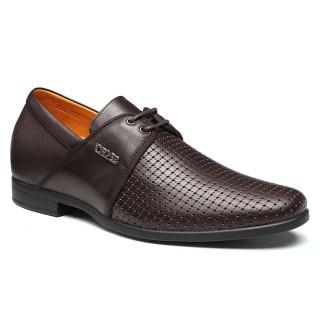 Venta caliente Altura Aumentar las sandalias casuales zapatos elevadores cuero de los hombres zapatos para crecer 7 centimetros