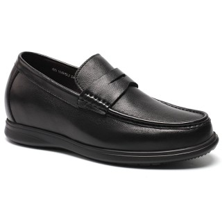 CHAMARIPA Taller zapatos casuales de cuero Oxfords zapatos para crecer 7 centimetros