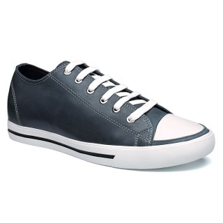 Wax Leather Loafer Board Shoes Elevator Athletic Shoes