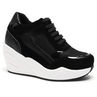 Zapatos de tacón ocultos para las mujeres zapatillas de deporte de la plataforma de los zapatos para crecer 10 centimetros