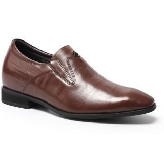 Ascensor zapatos zapatos para aumentar estatura hombre de los hombres de negocios formal Vestido Negro Taller 7 cm / 2,76 pulgadas