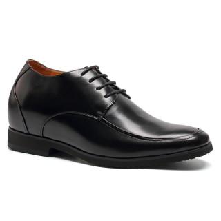 zapatos de cuero de becerro negro zapatos para crecer 10 centimetros