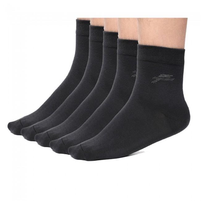男性のためのCHAMARIPA通気性の黒ソックス - 靴下の一つダース(12組)
