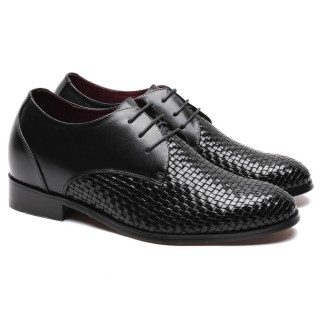 Height Gain Shoes Woven Leather Shoes Lifts for Shoes Lifting Shoes
