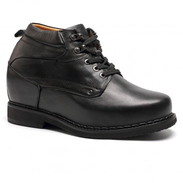 Chamaripa背 の 高く なる 靴トールシューズヒールアップシューズメンズ 革靴+13CM UP
