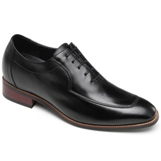 Chamaripa Black Business Elevator Shoes Height Increasing Dress Shoes 7 CM/ 2.76 Inches