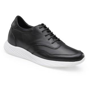 Chamaripa أحذية رياضية عارضة التي تضيف ارتفاع أسود جلد المصعد أحذية أحذية الرجال أحذية أطول 7 سم