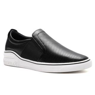 CHAMARIPA سنيكرز تمنحك حذاء سنيكرز كاجوال أسود مرتفع للرجال 6 سم
