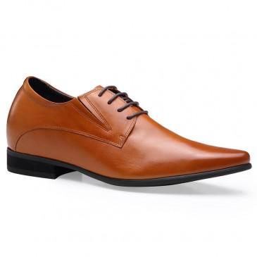 ارتفاع متزايد أحذية للرجال الأحذية الجلدية لتبدو أطول 8 سم