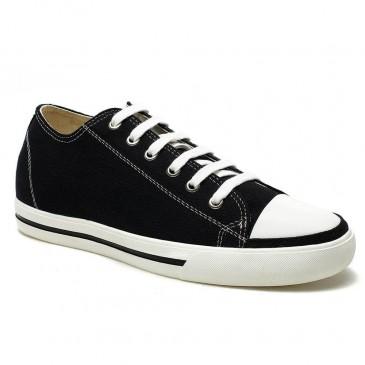 الكلاسيكية زيادة الطول 6CM مجلس قماش رياضية تبدو أطول قامة أحذية رياضية الصلبة