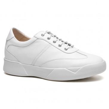 عارضة الأحذية المصاعد الأبيض أحذية مصعد للرجال الارتفاع أحذية الارتفاع 7 سم