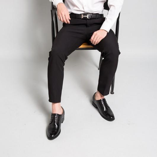 Chamaripa scarpe eleganti tacco interno sposo scarpe con rialzo interno uomo scarpe stringate uomo nere 7,5 CM
